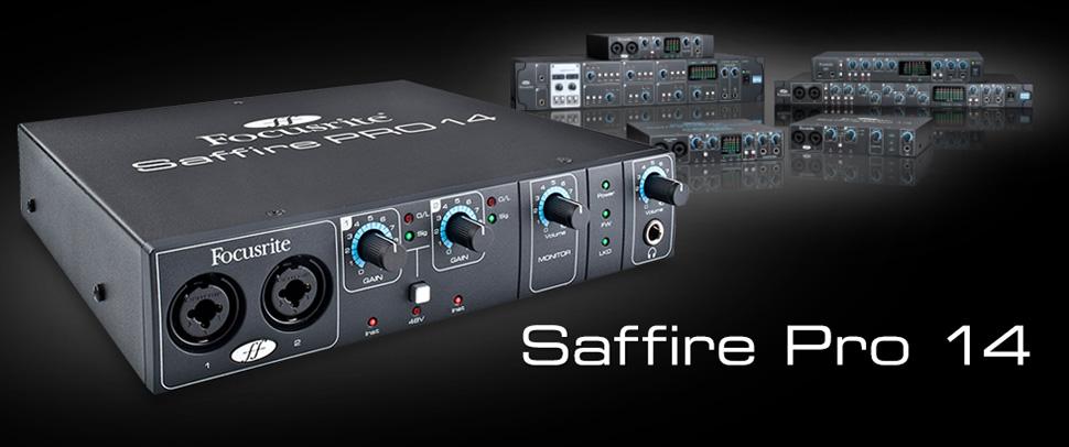 کارت صدا Focusrite Saffire Pro 14   خرید کارت صدا فوکوسرایت  Pro 14   خرید کارت صدا   گارت صدا فوکوسرایت   Saffire Pro 14   کالا استودیو