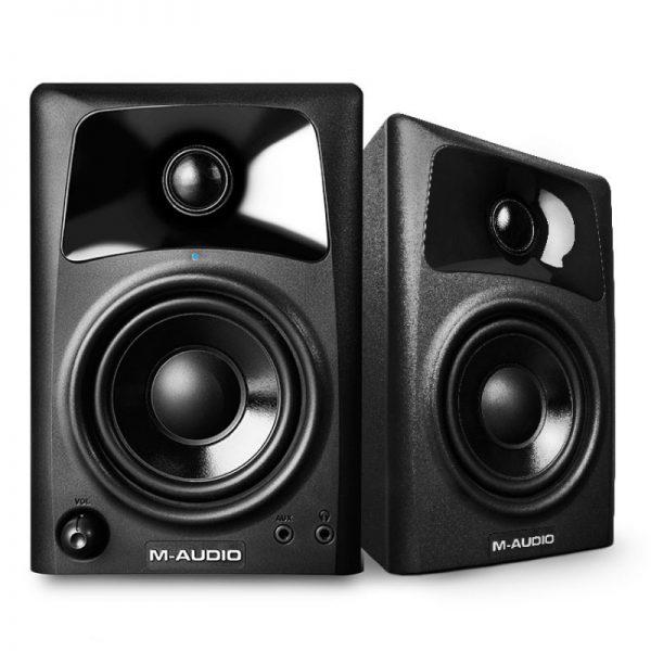 اسپیکر مانتیورینگ M-Audio AV32 دارای ووفر 3 اینچی با روکش پلی پروپیلن و توییتر 1 اینچی ferrofluid-cooled silk cone میباشد | خرید اسپیکر مانیتورینگ | M-Audio