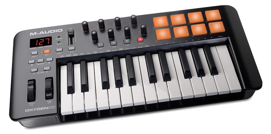 میدی کنترلر M-Audio Oxygen 25 New | میدی کنترلر | خرید میدی کنترلر | خرید و فروش انوع میدی کنترلر نو و کارکرده | خرید میدی کنترلر M-Audio