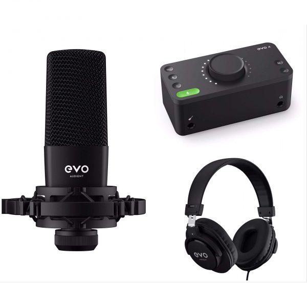 پکیج استودیویی Audient EVO Starter Pack یک باندل حرفه ای و بسیار با کیفیت میباشد که با خرید آن تمامی نیاز های شما برطرف میشود... | خرید کارت صدا Audient EVO 4 | خرید پکیج استودیویی | خرید میکروفون استودیویی | خرید تجهیزات استودیویی | فروشگاه اینترنتی کالا استودیو